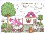 Landschap roze 15 x 20 cm